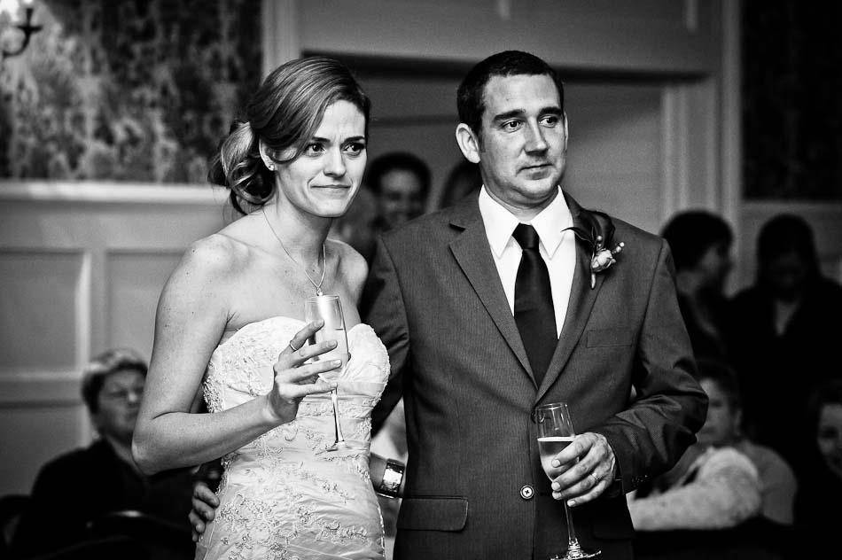 Bride Crying Over Sentimental Toast At Wedding Reception Songbird