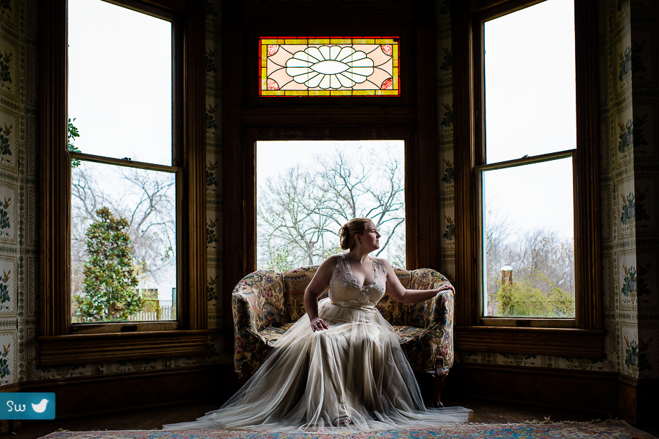 Bridal portrait by Austin Wedding Photographer at Barr Mansion