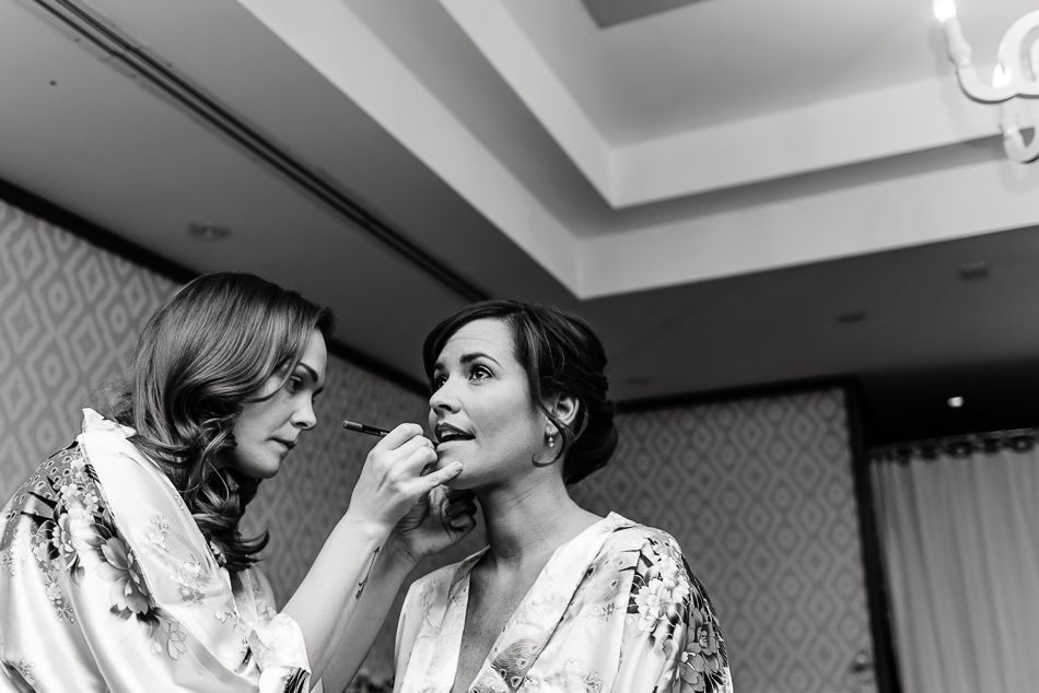 Fine art portrait of bride getting ready at The Belmont by austin wedding photographer