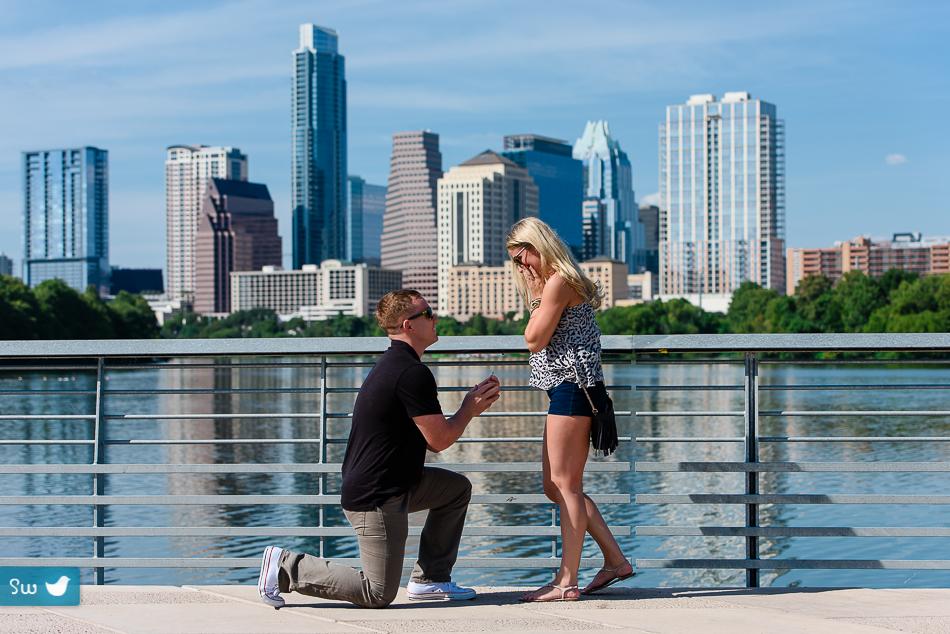 Proposal At Town Lake In Austin Texas