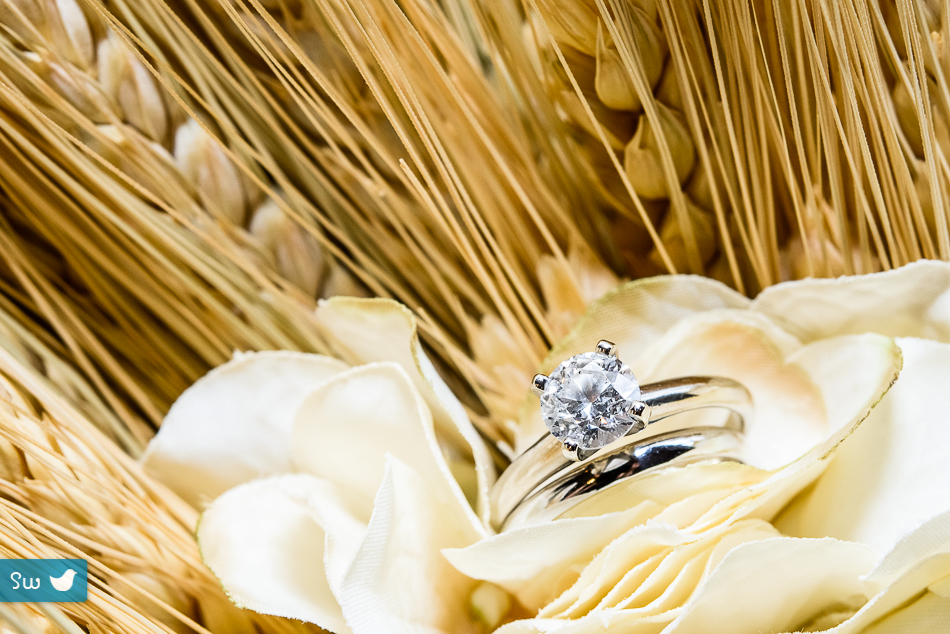 diamond wedding ring beautiful with flowers and wheat in austin texas photographer
