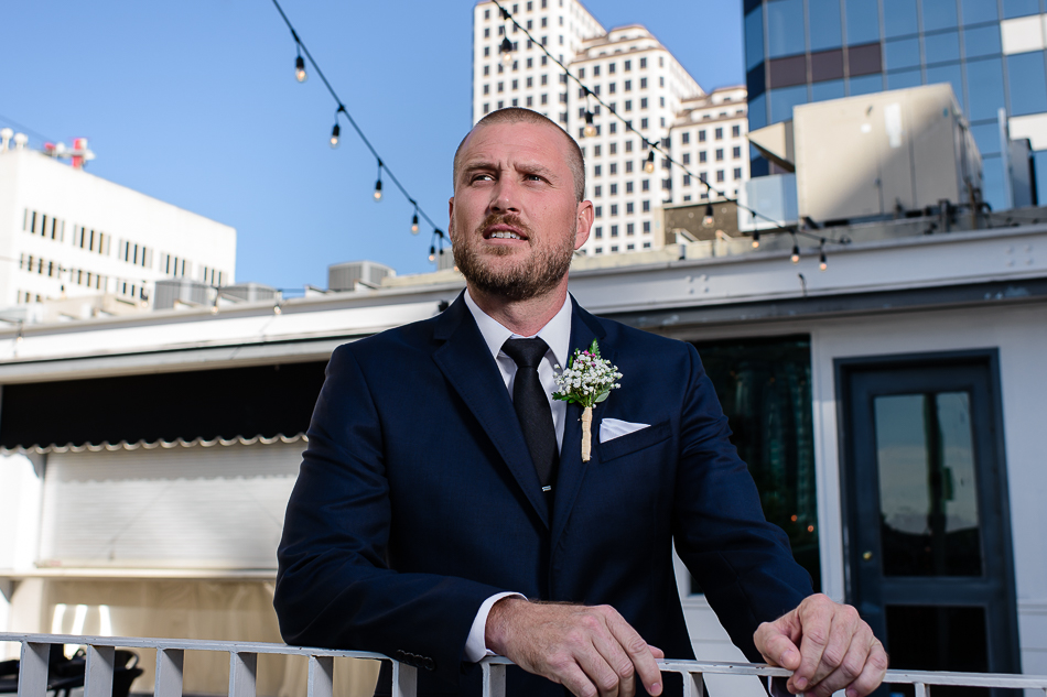 fine art portrait of groom before wedding by photographer in austin, texas