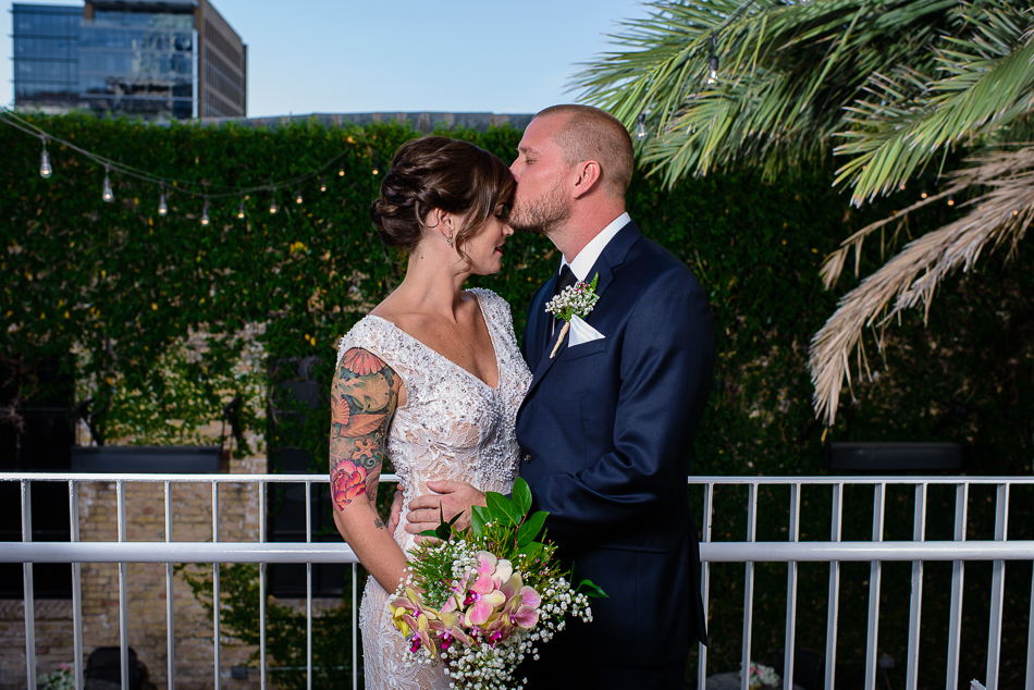 Tattooed bride in austin by wedding photographer at the Belmont