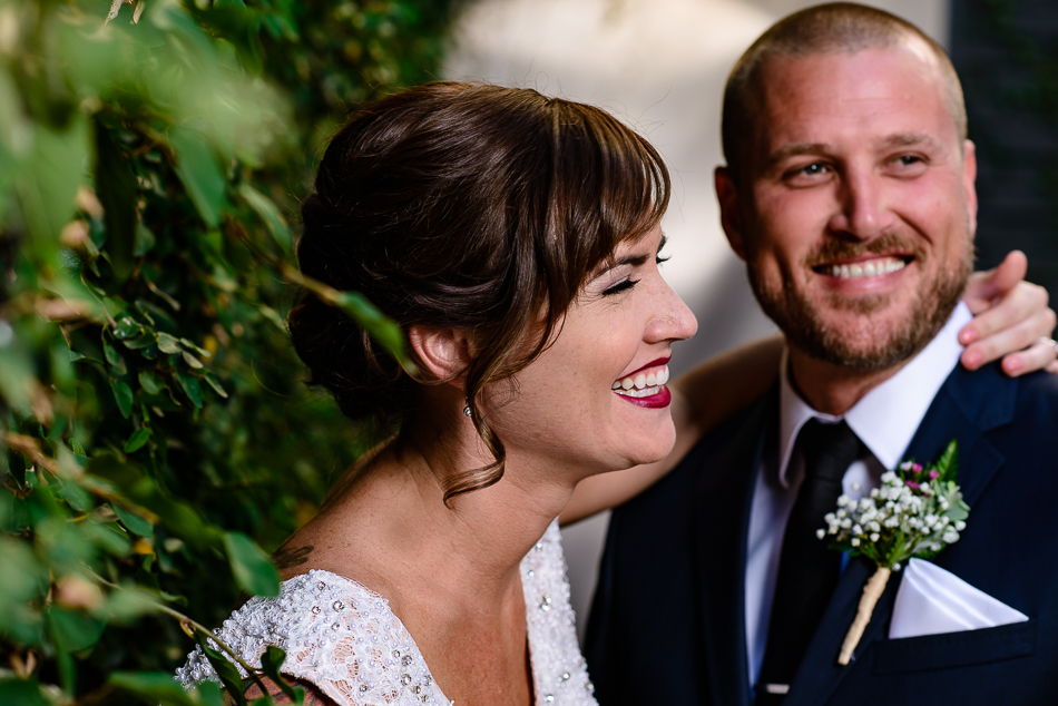 Austin wedding photographer portrait of bride and groom after ceremony