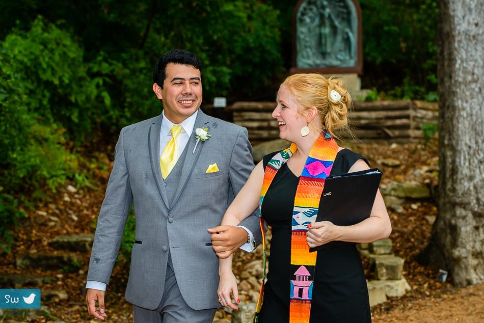 Photos by Songbird Wedding Photography at Umlauf Sculpture Garden & Museum in Austin, Texas