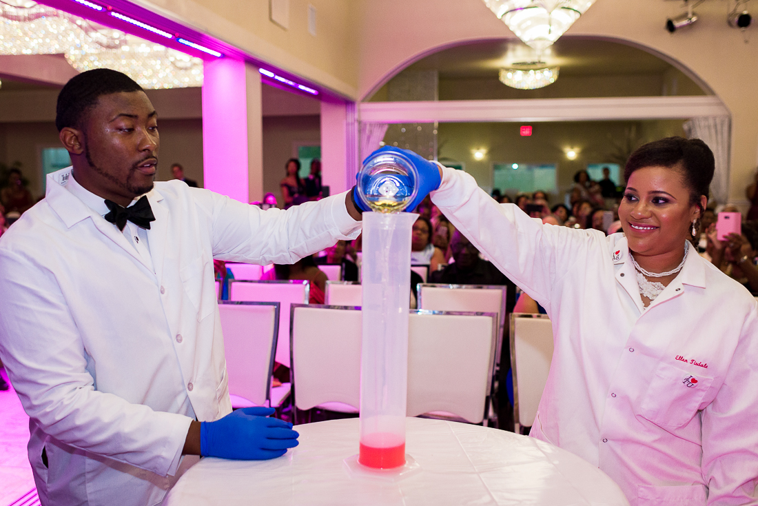 Black African American Scientists create reaction by austin wedding photographers