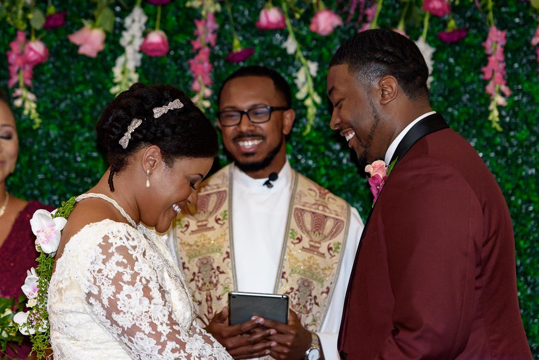 African american wedding, black bride ceremony by austin wedding photographers