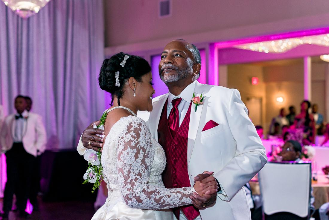 austin wedding photographers capture father daughter dance, african american wedding