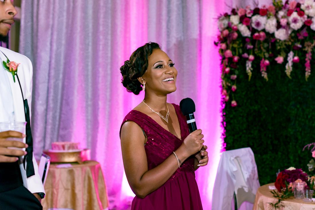 African American wedding toasts by austin wedding photographers