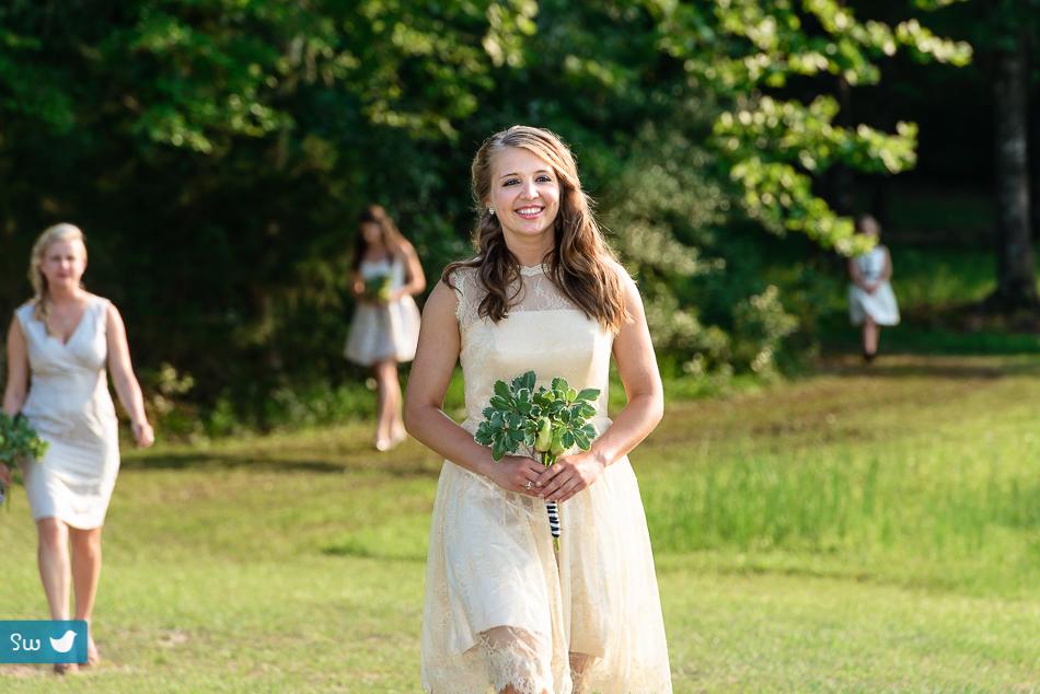 Austin wedding photographers, ceremony with bridesmaid