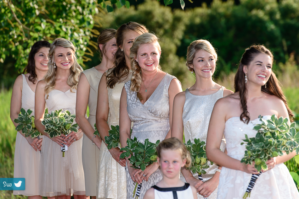 bridesmaids during ceremony in Bellville, Texas