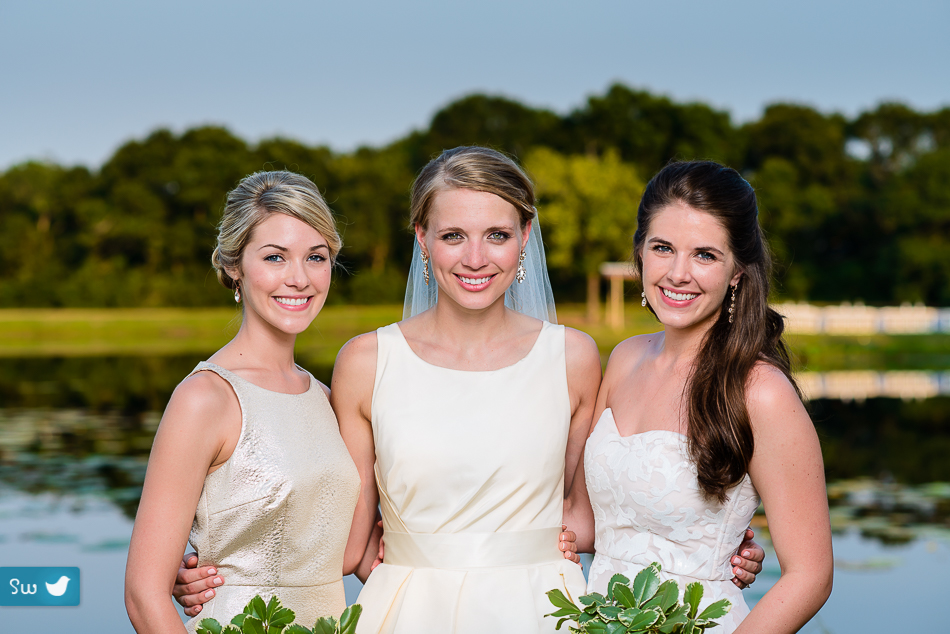 austin wedding photographers portrait of bride with maid of honor