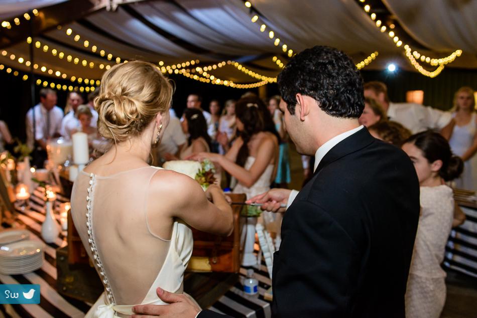 Austin Wedding Photographers reception cake with succulents