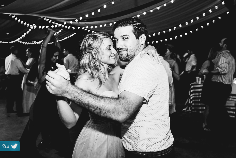 reception guests dancing by austin wedding photographers