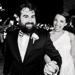Sparkler exit with bride and groom at UT Golf club by austin wedding photographer