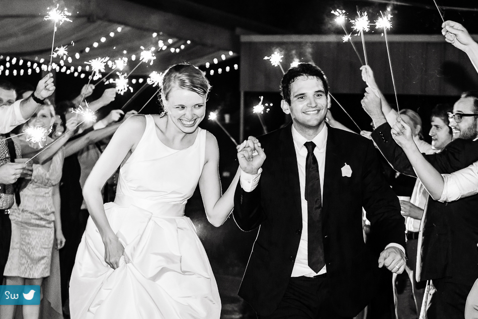 sparkler exit by austin wedding photographers