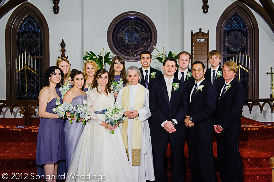 wedding party portrait calvary church