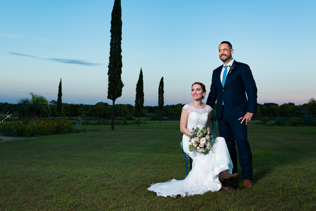 Fine Art portrait of bride groom Le San Michele austin wedding photographers