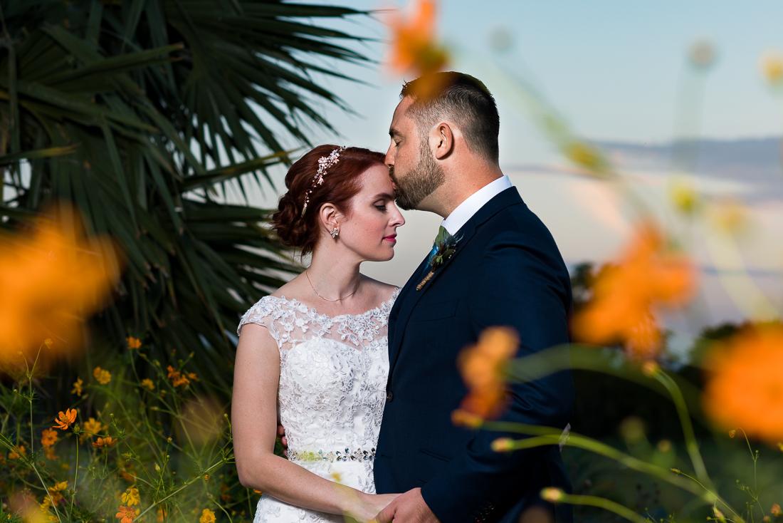 Austin wedding photographers fine art portrait outdoor flowers sunset Le San Michele