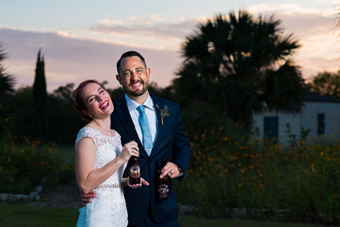 sunset le san michele portrait austin wedding photographers beer custom brew