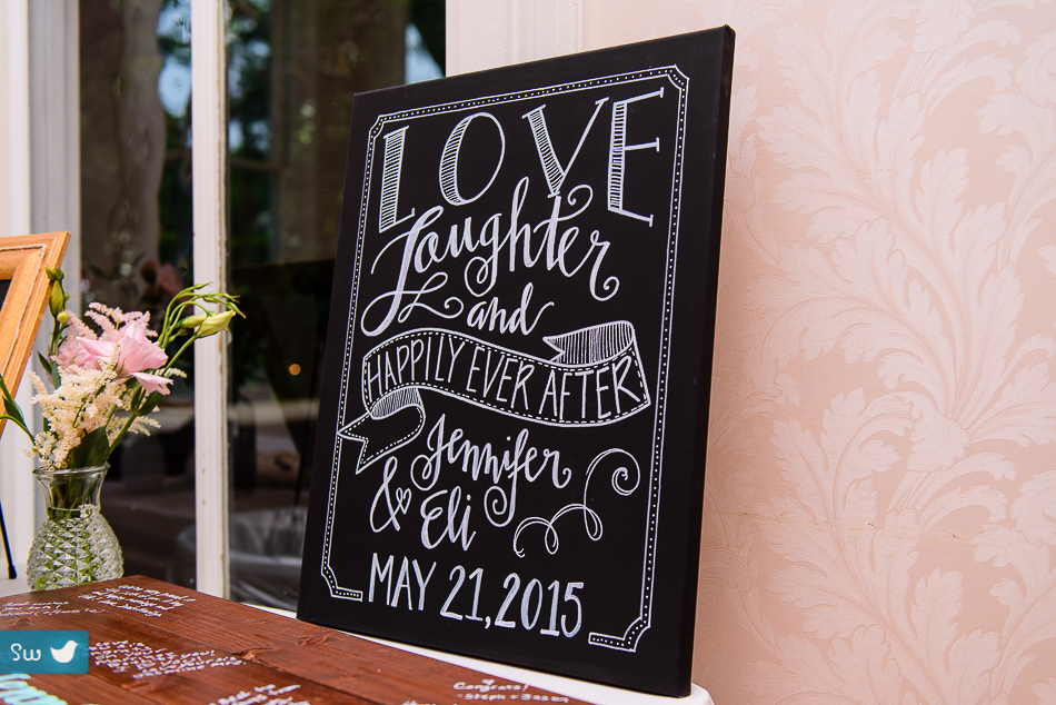 Love sign by bride