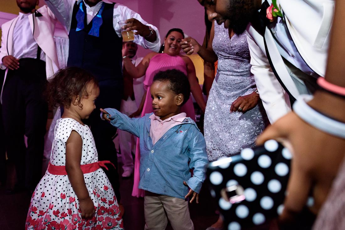 Austin wedding photographers kids dancing during wedding Sterling Events Center