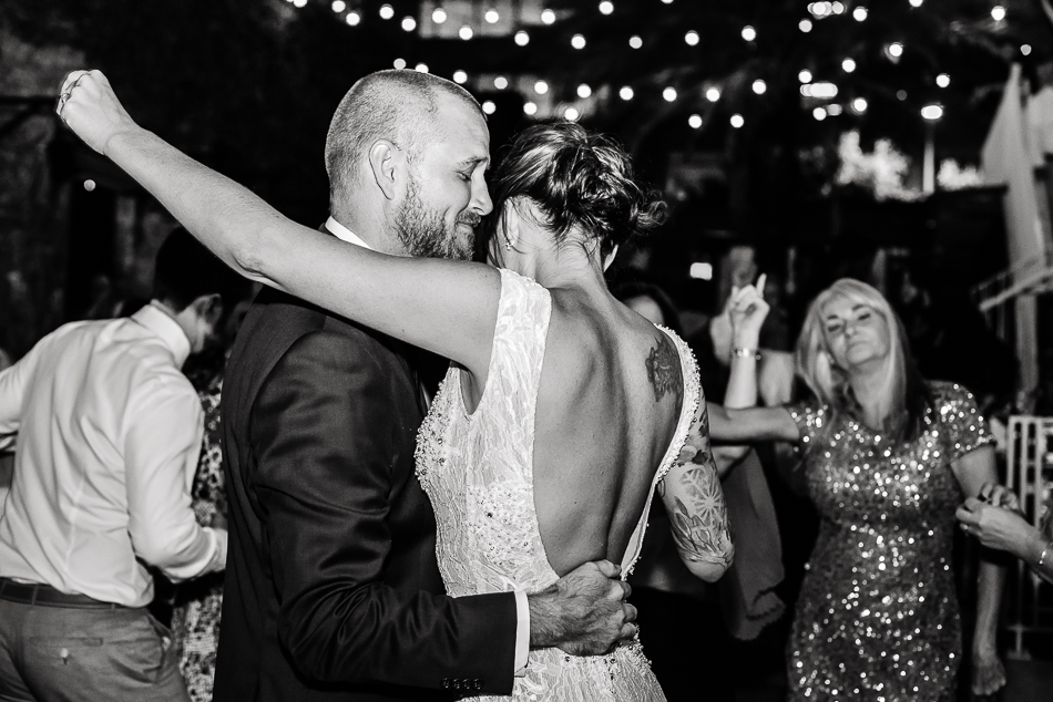 Couple dancing during wedding reception by austin wedding photographer