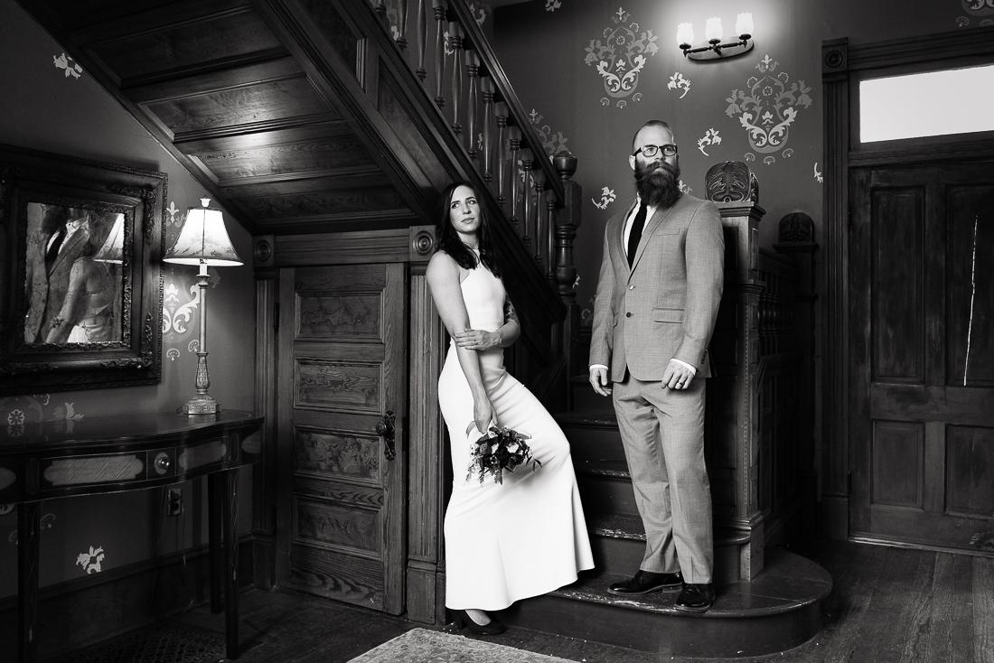 tx-barr-mansion-couple-portrait-black-white-Austin-wedding-photographers